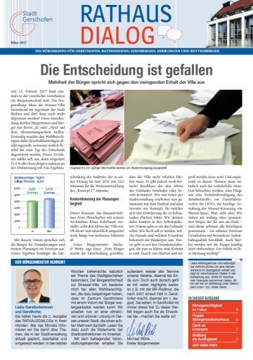 Informationen aus erster Hand: Der Rathausdialog