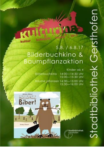 Bilderbuchkino und Baumpflanzaktion