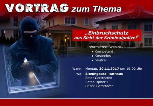 Einbruchschutz aus Sicht der Polizei: Präventionsveranstaltung im Rathaus