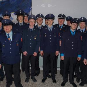 Gruppenbild am Ehrenabend im Rathaus Gersthofen (Foto: Stadt Gersthofen)