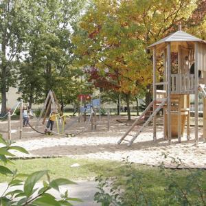 Kinderspielplatz an der Brucknerstraße (Foto: Marcus Merk)