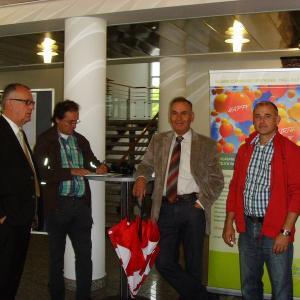 von links: Jürgen Schantin, Gerald Lindner (Presse), Karl-Heinz-Wagner, Stefan von Rechenberg