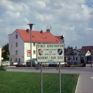 Tafel Städtepartnerschaft in Gersthofen