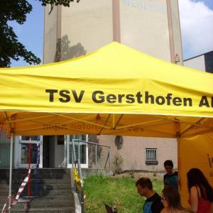 Disziplin Treppenlauf Ballonmuseum 2013 (Foto: Stadt Gersthofen)