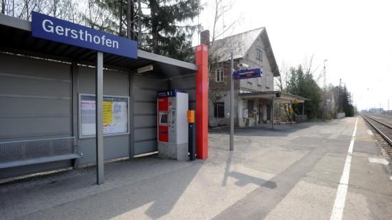 Bahnhof Gersthofen (Foto: Marcus Merk)