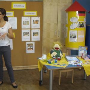 Infos zur deutschen Sprachförderung  (Foto: Margit Müller)