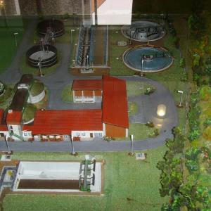 Modell der Kläranlage (Foto: Stadt Gersthofen)