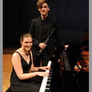 Kunstpreisgewinner 2013: der 22jährige Klarinettist Roman Gerber, Sonderpreis für die Pianistin Verena Metzger (Foto: Marcus Merk)