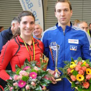 Sieger Silvesterlauf 2014: Cornelia Kriesche und Tobias Gröbl (Foto: Oliver Reiser)
