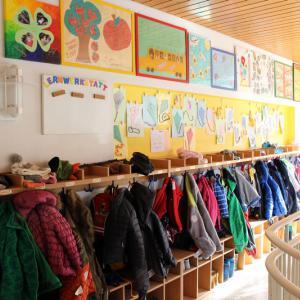 Garderobe (Foto: Ulrichkindergarten)